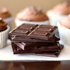 Healthy, homemade Dark Chocolate - you'd never know this is low-carb!