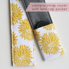 Camera Strap Tutorial... with little pocket for the lens cap