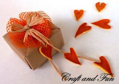 Romantic favors recycling orange peels and nets of onions!