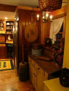 *** cupboard, yellow cabinet, country kitchens, primitive kitchen