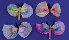 Coffee Filter Butterflies-childcareland.com
