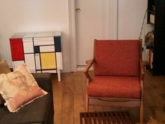 eames diy painted cabinet w/beautiful Kennedy chair