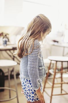 Pattern mixing at Oscar de la Renta children.