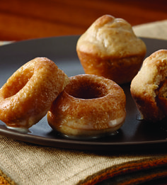 Recipe For Mini Baked Pumpkin Pie Spiced Donuts with Vanilla Glaze