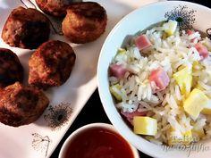 Telita na Cozinha: almôndegas com especiarias chinesas e arroz chau-c...