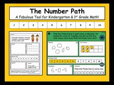The Number Path ~ Is it a better tool for Kindergartners and 1st graders than a number line?  Includes free samples to explore and a free iPad app for addition & subtraction word problems within 10.