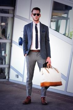 outfit, suit, street styles, men fashion, mens street style london, man bags, travel style, business casual, moda masculina