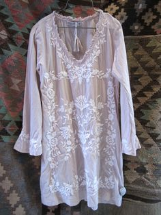 One Season pink tunic with embroidery