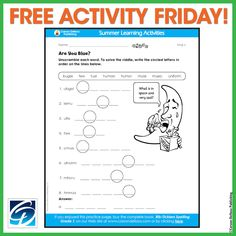 What's the saddest thing in the sky? Finish this Free Activity with your little ones to find out!