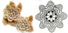 Gráficos de flores de crochê para imprimir