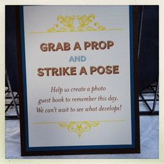 Saratoga Photobooth props table