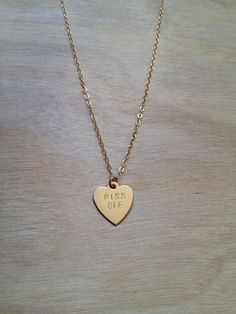 PISS OFF Heart Necklace by BunniesInLA on Etsy, $52.00