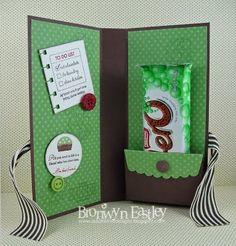 Chocolate holder w/pocket card idea, craft, holder wpocket, chocolates, chocol holder, colour combo, wrapper colour, chocol wrapper, design