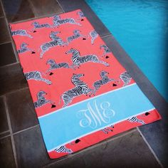 haymarket zebra beach towel~too cute!