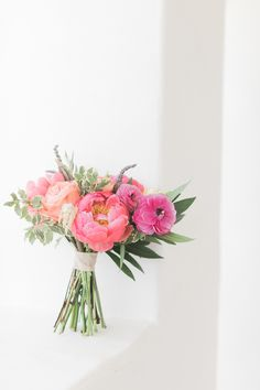 Rustic + Romantic Ojai Valley Inn Wedding by All You Need is Love Events; peony bouquet