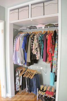 Neatly Organized Closet | OrganizingMadeFun.com