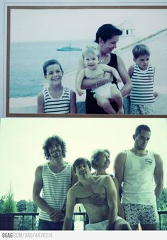 Recreated family photos. This could be fun ...