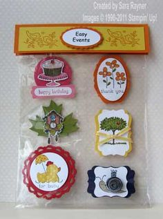 Easy Events card candy | Sara's crafting and stamping studio