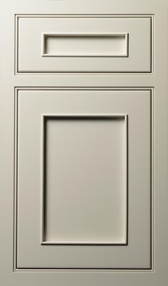 Austere Door done in Maple Dove White finish  #Austere #Door #White #Contemporary #Kitchen #Custom #Cabinetry