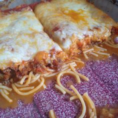 Spaghetti Bake Pizza: cook 1/2 box of spaghetti noodles & drain. Brown hamburger meat & drain. In a greased 9x13 dish, layer cooked spaghetti, grated parm cheese, meat, spaghetti sauce, mozzarella cheese. Bake uncovered 350 for 30 minutes.