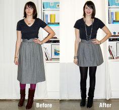how to hem a skirt