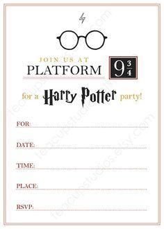 PRINTABLE Harry Potter Invitation - PDF