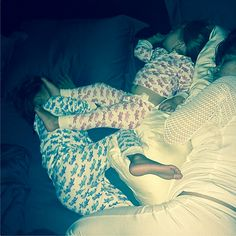 Pregnant Kourtney Kardashian makes bedtime a family affair! The KUWTK star recently cuddled up to her adorable daughter Penelope and son Mason in bed. Check out those adorable pajamas!