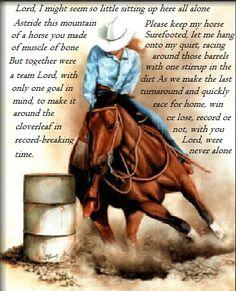 Barrel racers prayer <3
