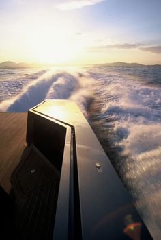 Aft deck view from a Wally 118