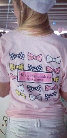 delta gamma bid day shirt - the tie that binds us