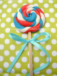 Lolly pop cookies on a stick
