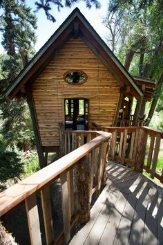 Rustic Treehouse by Green Line Architects, houzz #Treehouse