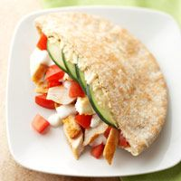 Chicken and Hummus Pitas