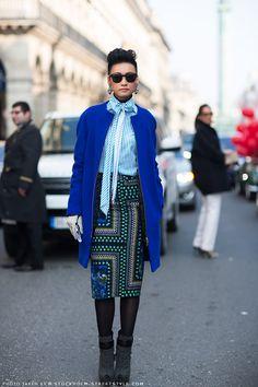 #EstherQueck looking fab in Paris.