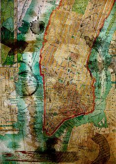 Old Manhattan Map