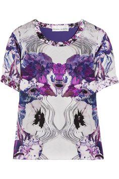 PRABAL GURUNG  Printed silk-georgette top