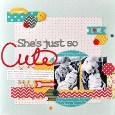 #papercraft #Scrapbook #layout   She's Just So Cute - Scrapbook.com #2 #1