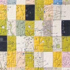 Paula Kovarik - detail of her quilt (LOVE THIS!!!)
