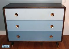 dresser w/ gradient colored drawers | Better After: desks/hutches/buffets