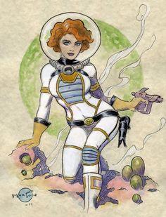 Space Girl 2 Comic Art