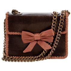 CECILIA VINTAGE Bow Chain Detail Bag .. farfetch....So Cute! <3<3