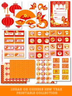 printables for Lunar or Chinese NewYear