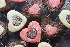 Valentine's Day Heart Cookies (from food on paper)