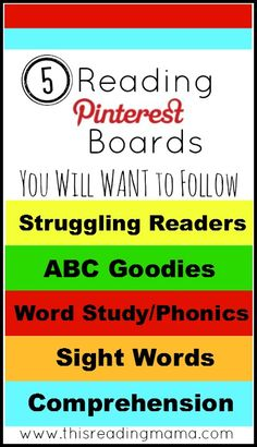 5 Reading Pinterest Boards You Will WANT to Follow   This Reading Mama