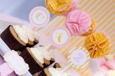 Fazendo a Minha Festa Infantil: Toppers para Cupcakes de Pompom de Tecido