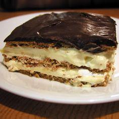 So easy!  Chocolate Eclair Dessert