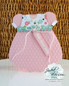 Baby Dress Shaped Card
