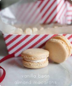 vanilla bean almond macarons from @bakeat350