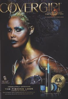 "UBAH HASSAN FOR COVERGIRL ,THE HUNGER GAMES "" CATCHING FIRE"" COLLECTION FALL, 2013  MODEL