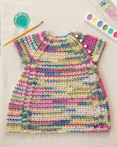 Paint-by-Number Crochet Baby Dress   crochet today